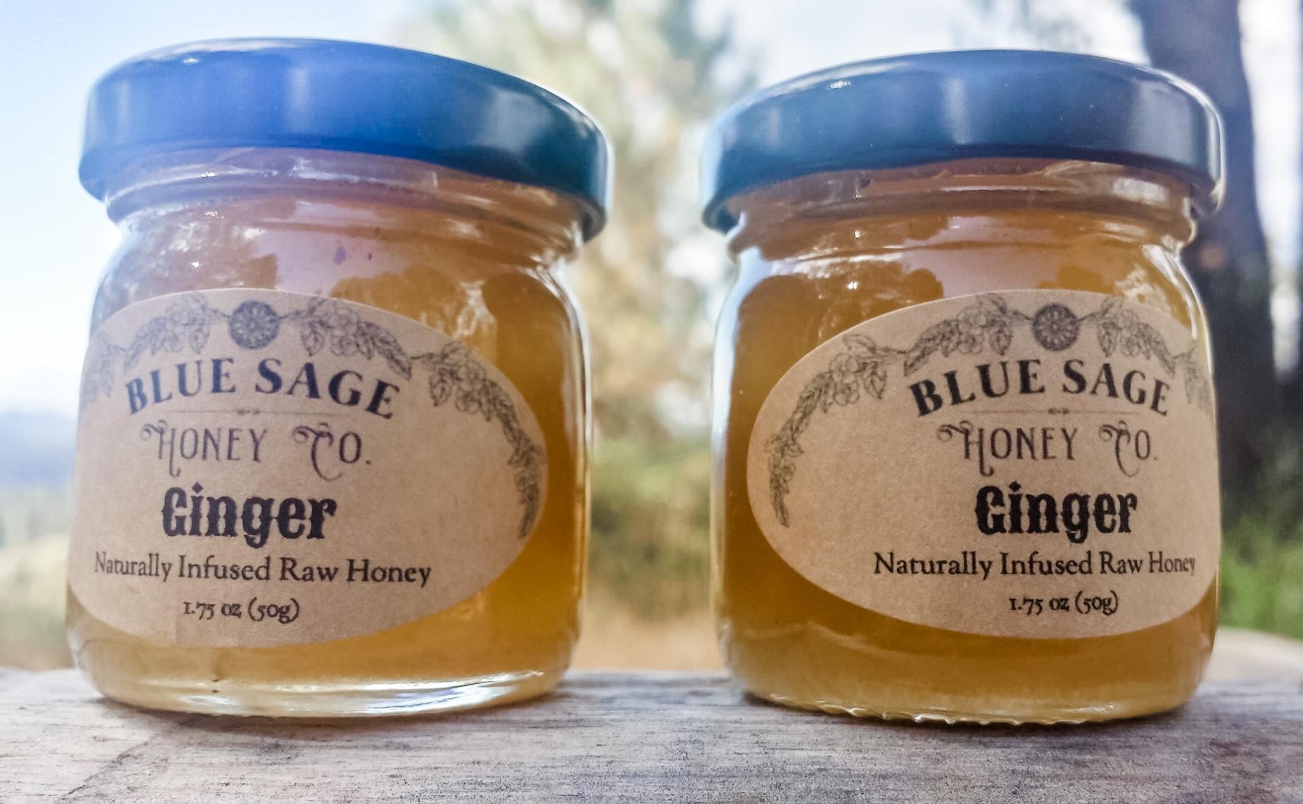 Blue Sage Infused Honey, Mini 1.75 oz
