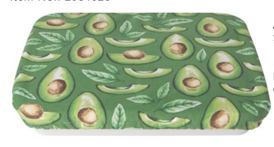 "Avocados Baking Dish Cover, 13""x9"""