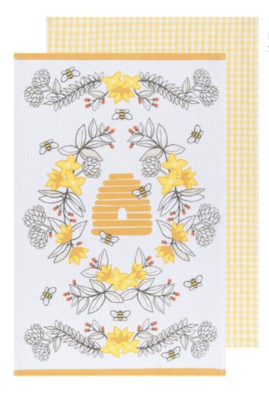 Bees, Set/2 Dishtowels