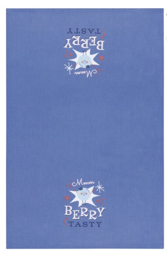 "Cheeky Tea Towel: ""Berry Tasty"""