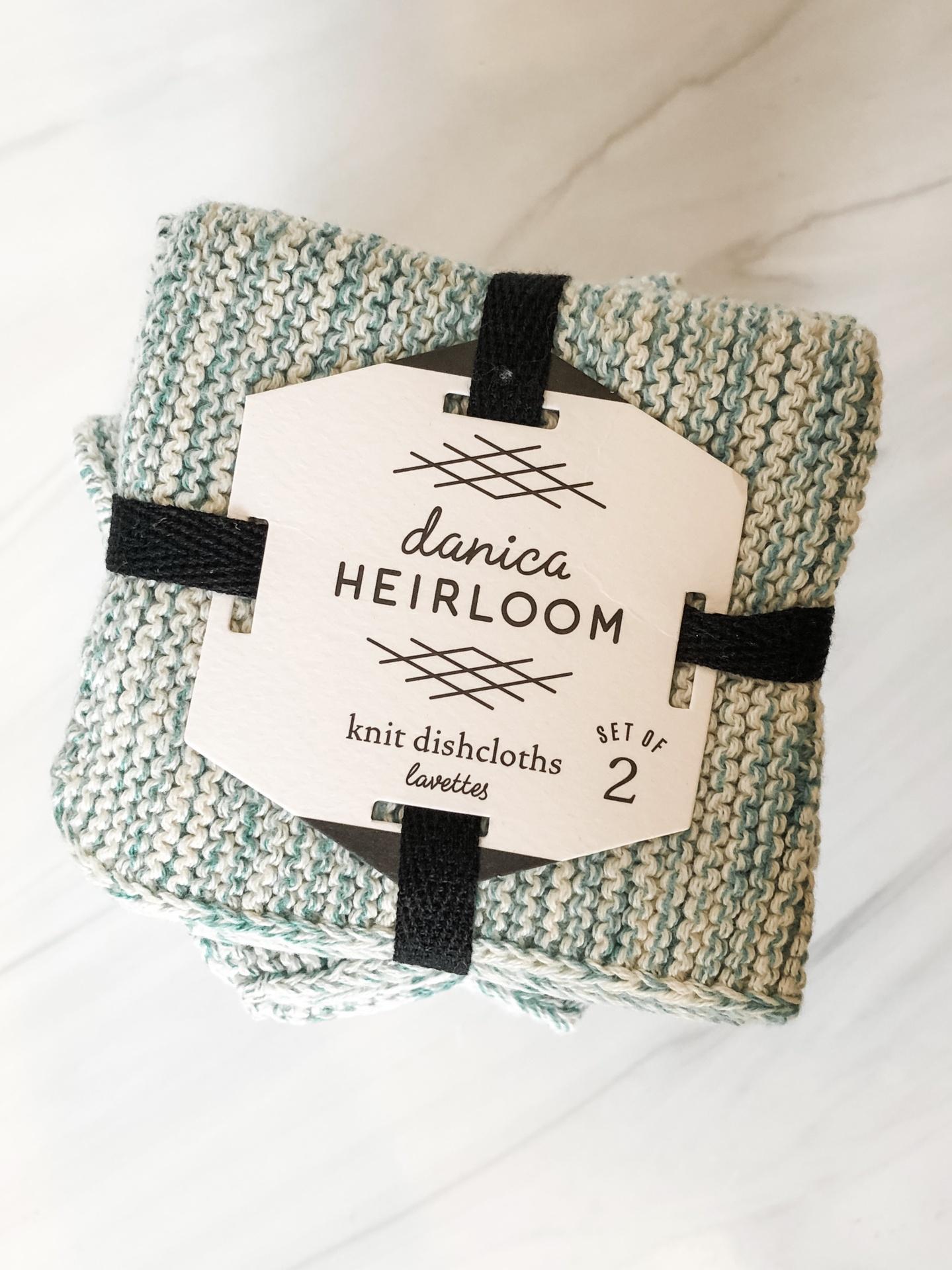 Knit Dishcloth, set/2--CHOOSE COLOR
