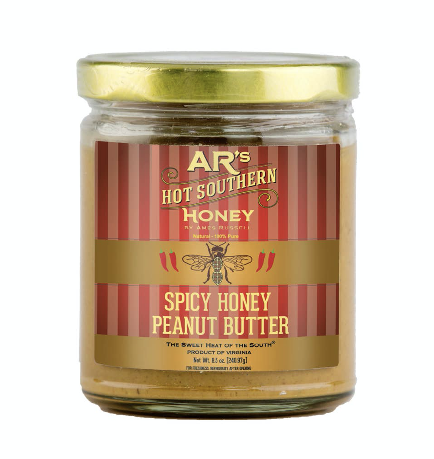 AR's Spicy Honey Peanut Butter, 8.5oz