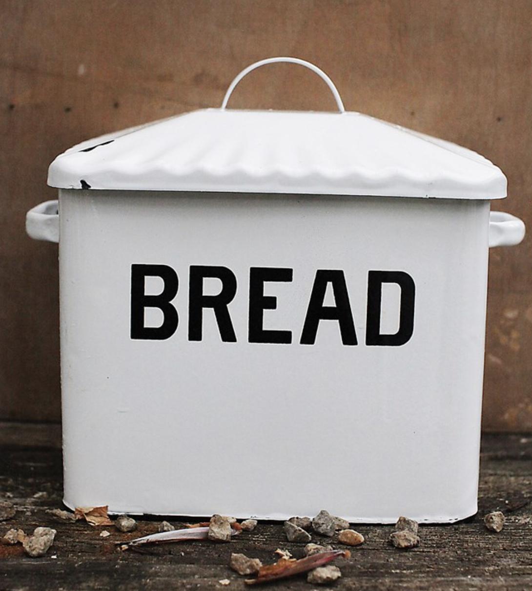 B&W Enamel Breadbox