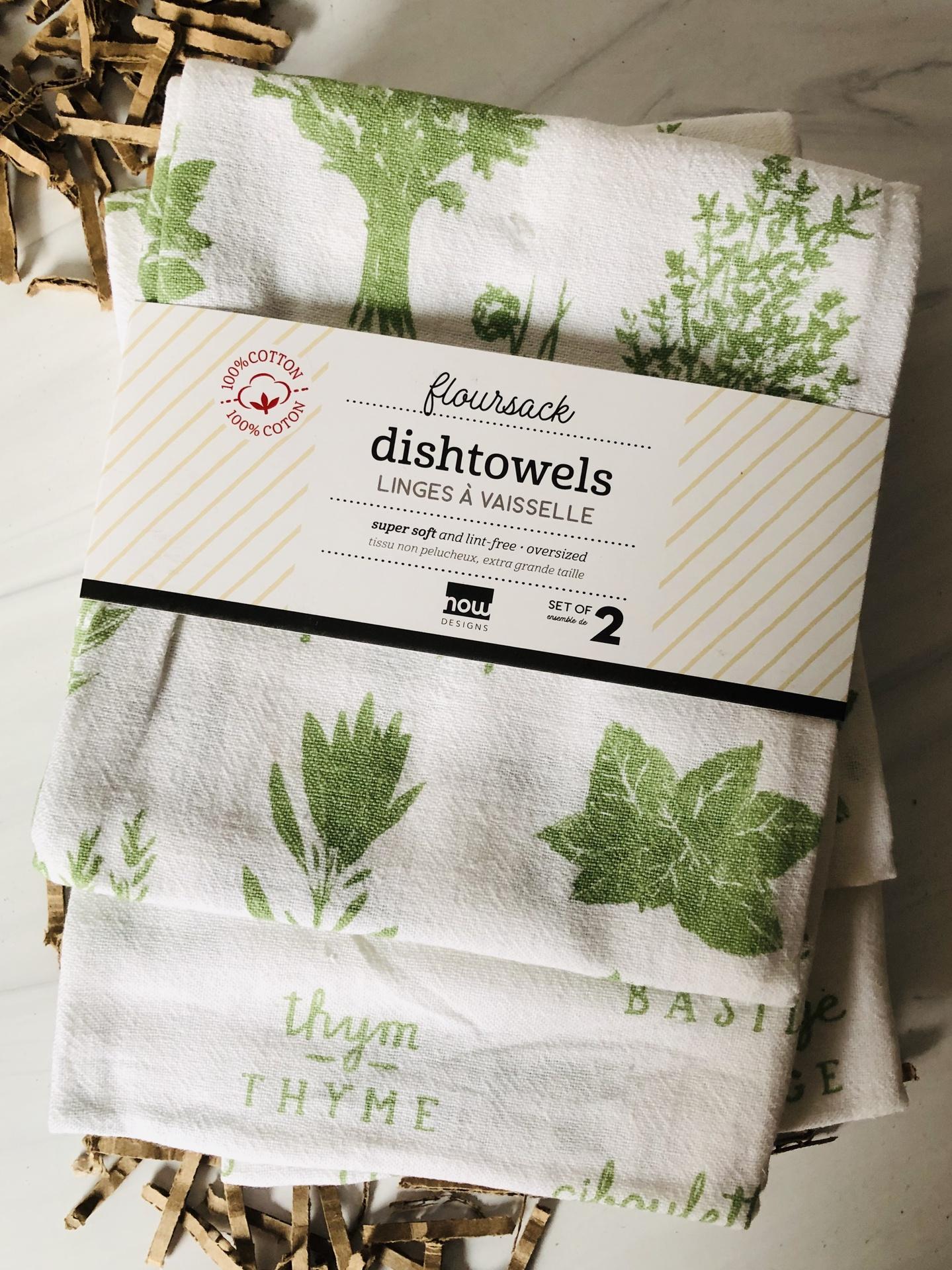 Herbs Floursack Dishtowels, set/2