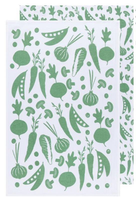 Veggies Floursack Dishtowels, set/2