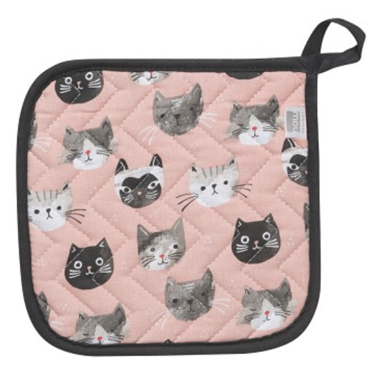 Cats Meow, Printed Potholder