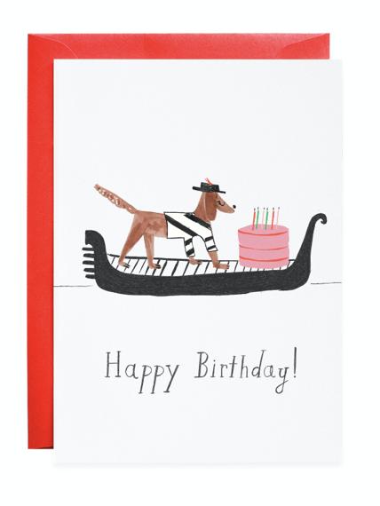 Petite Card: HBD Gondola Pup