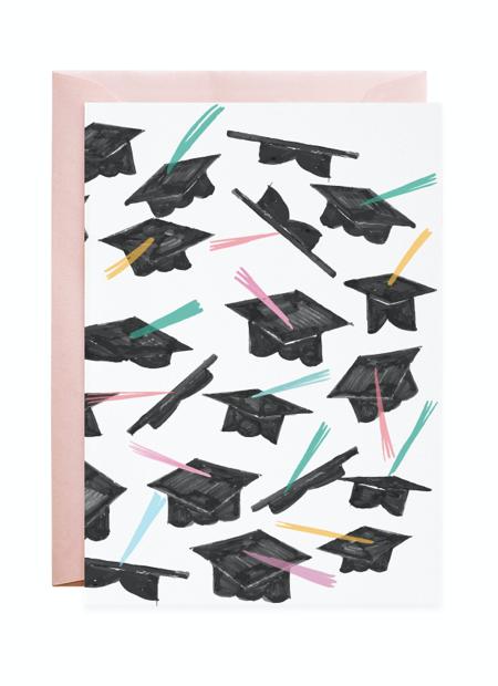 Petite Card: Grad Caps