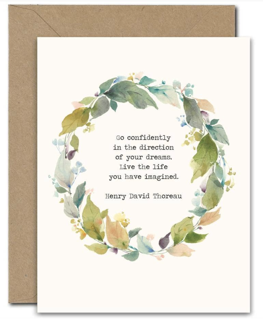 """""""Confidently in the Directions of your Dreams,"""" Blank Greeting Card"""