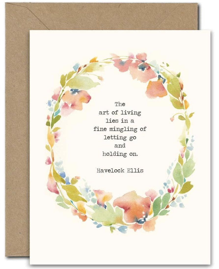 """""""The Art of Living,"""" Blank Greeting Card"""