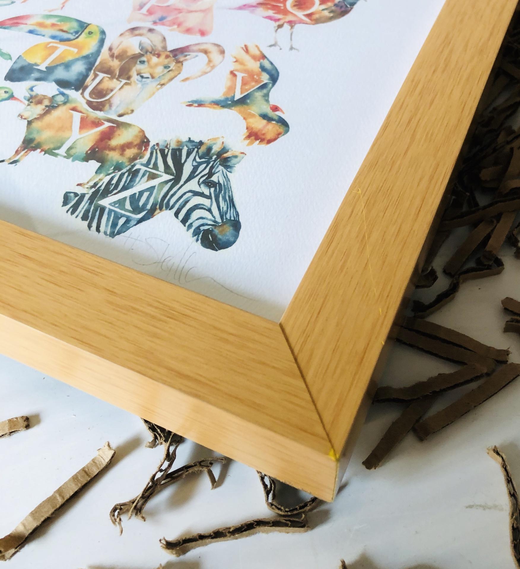 ABCs Animal Print, FRAMED