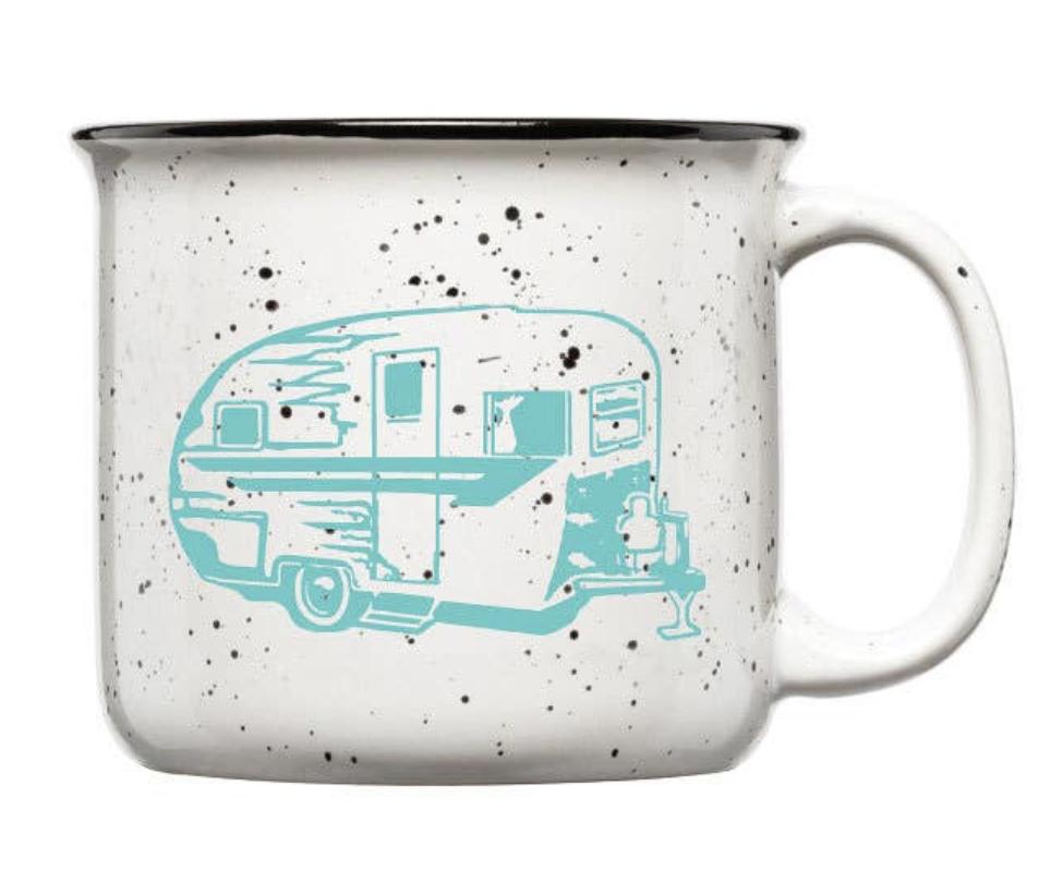Vintage Trailer Ceramic Camp Mug, 15oz