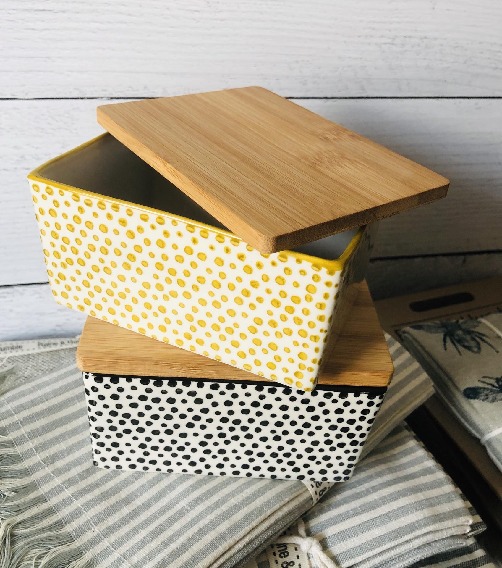 Stoneware Butter Box--CHOOSE COLOR