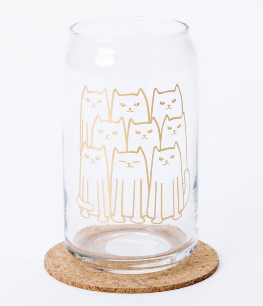 Cats Glass Can, 16oz