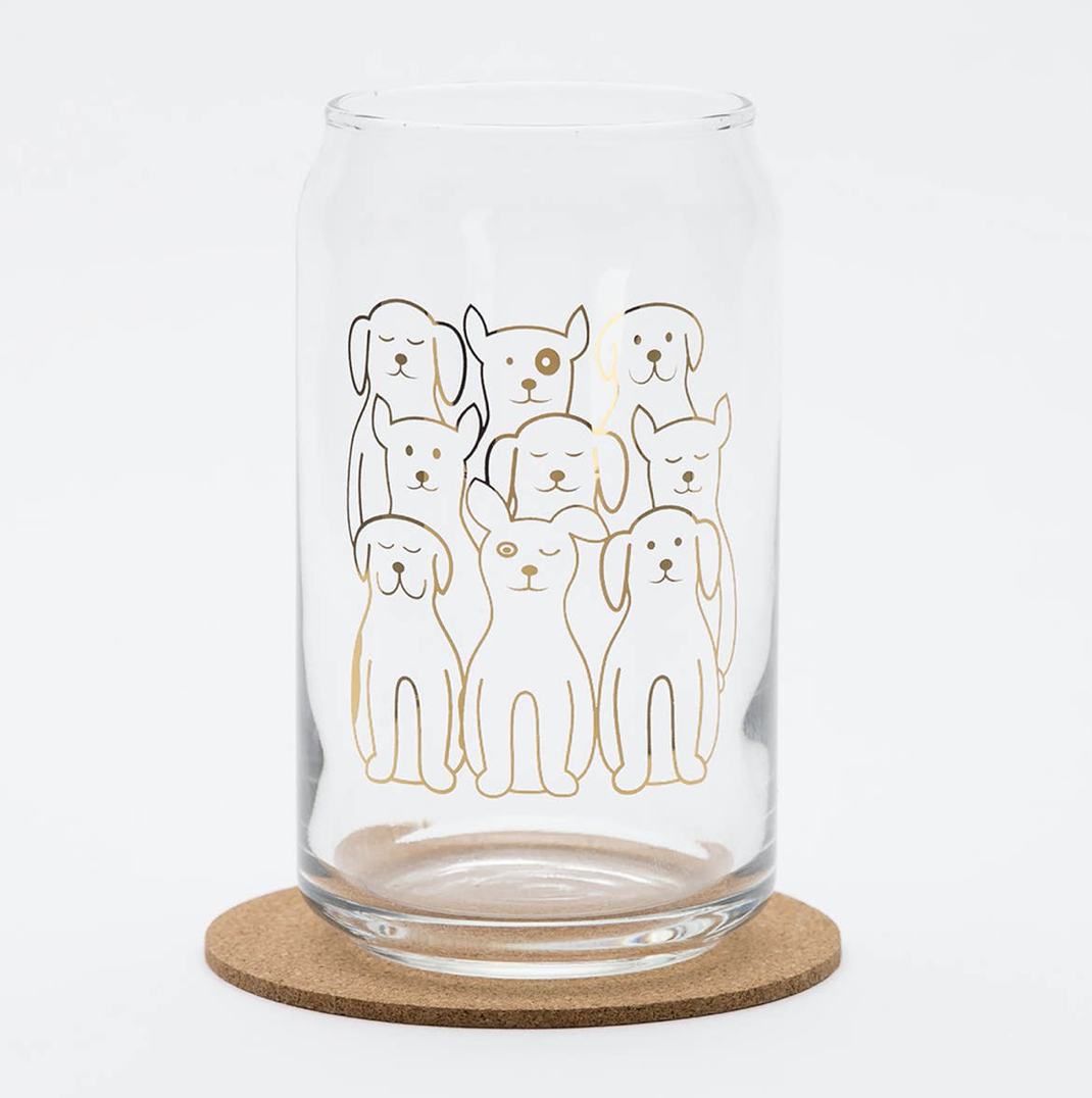 Dogs Glass Can, 16oz