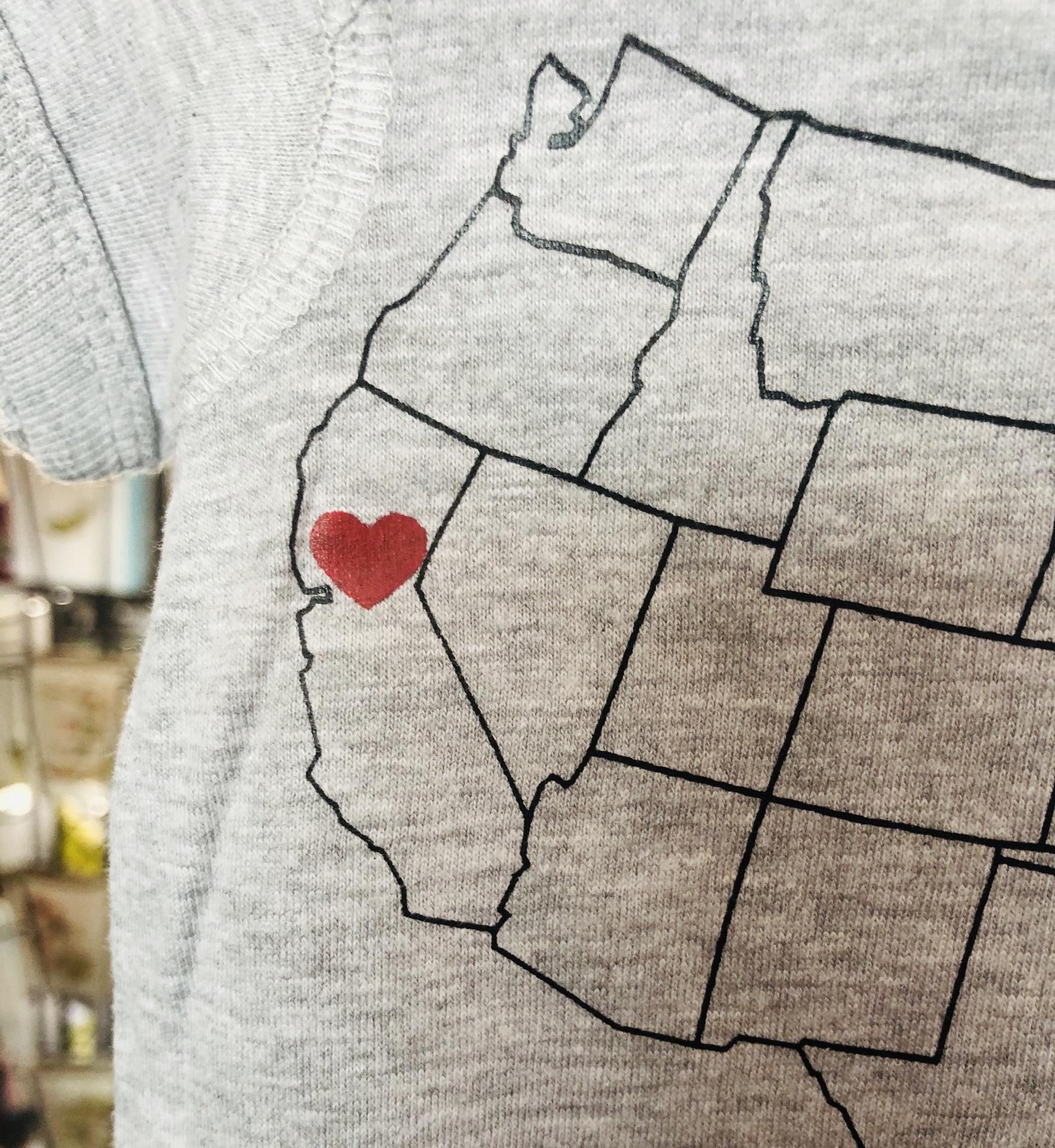 California Love Baby One Piece, Light Grey--CHOOSE SIZE