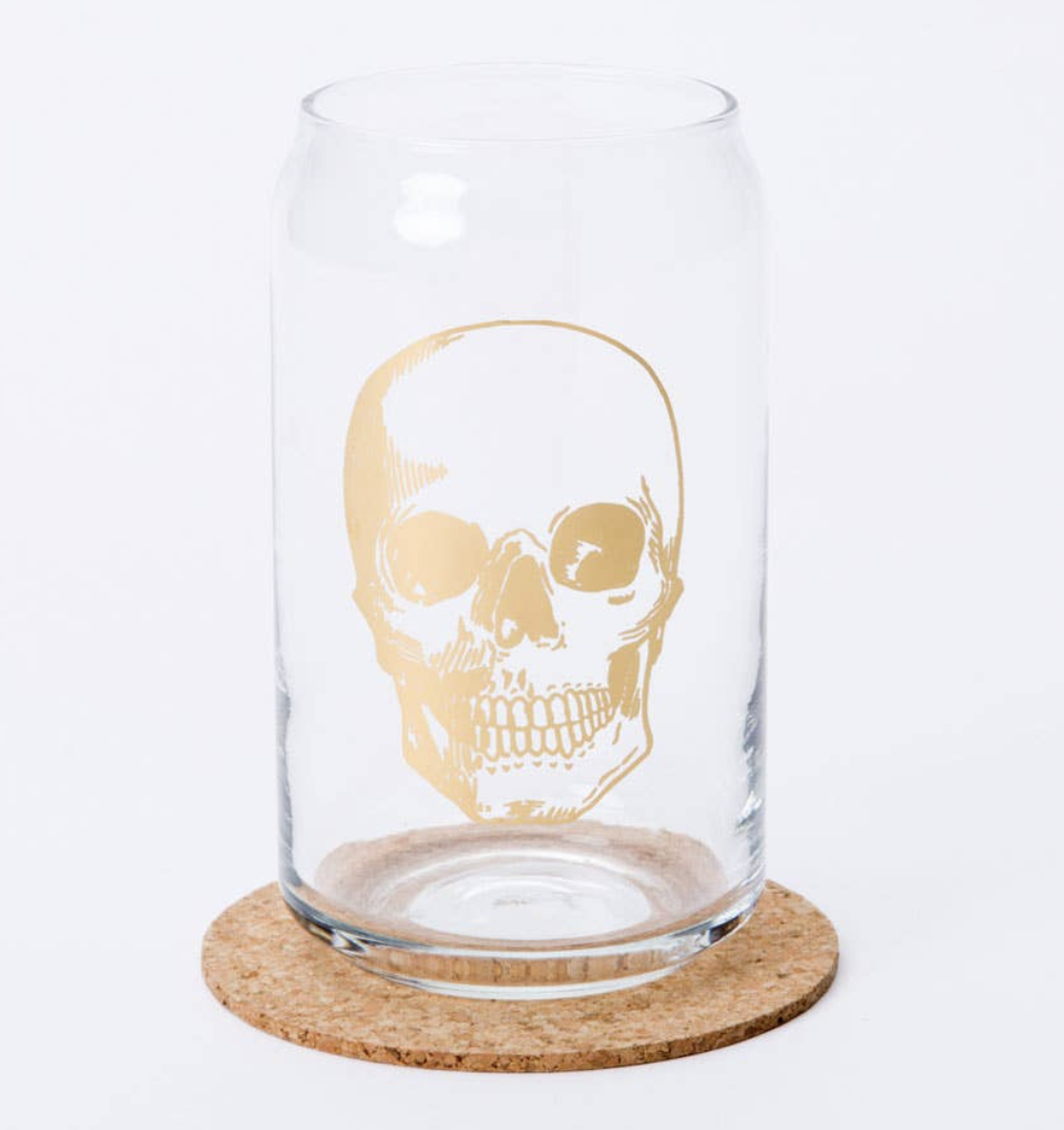Skull Glass Can, 15oz