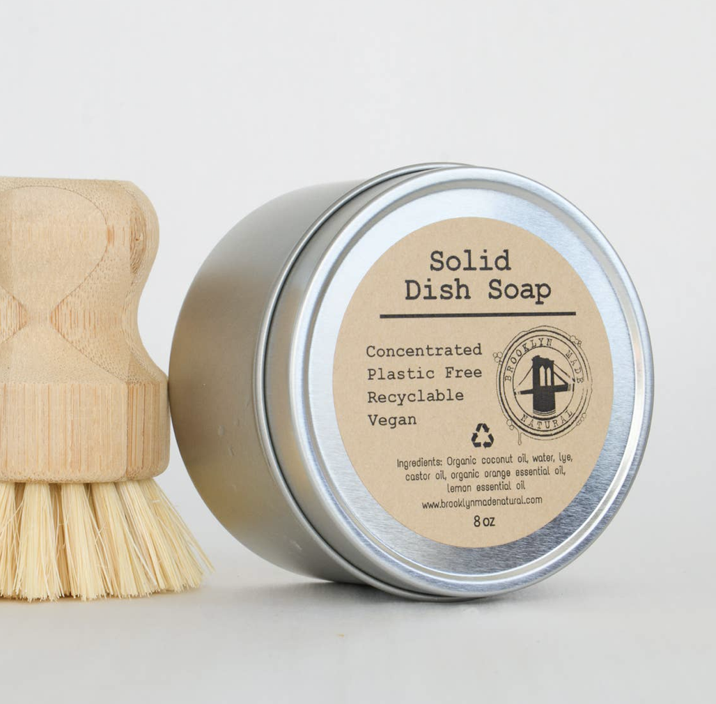 Solid Dish Soap in Tin, 7oz