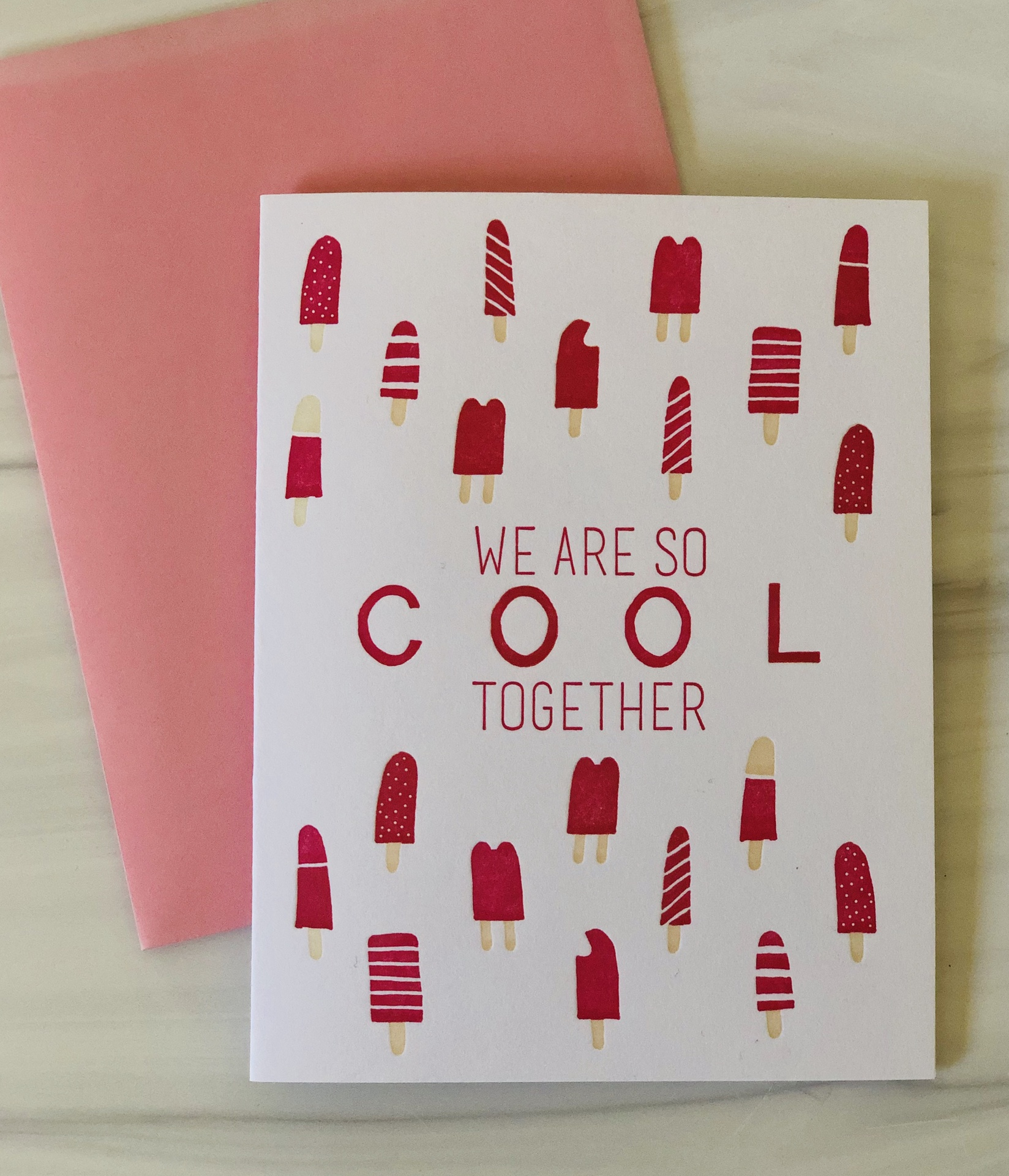 """""""So Cool Together,"""" Blank Greeting Card"""