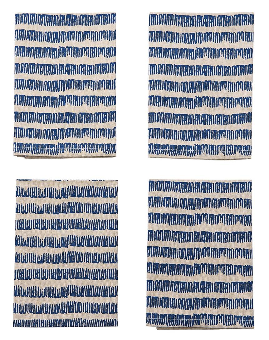 Blue Bungalow Napkins, set/4--CHOOSE DESIGN