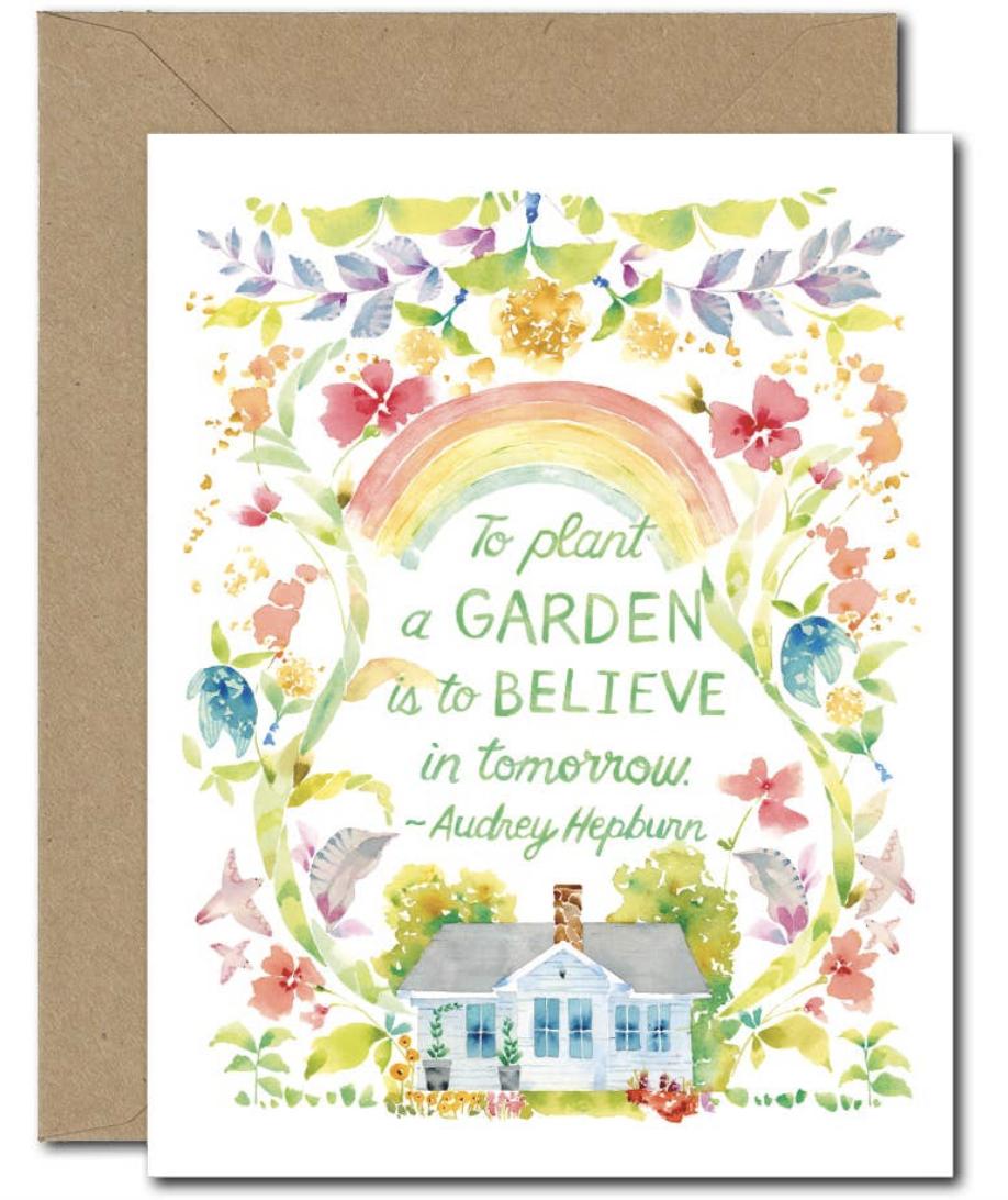 """Plant a Garden,"" Blank Greeting Card"