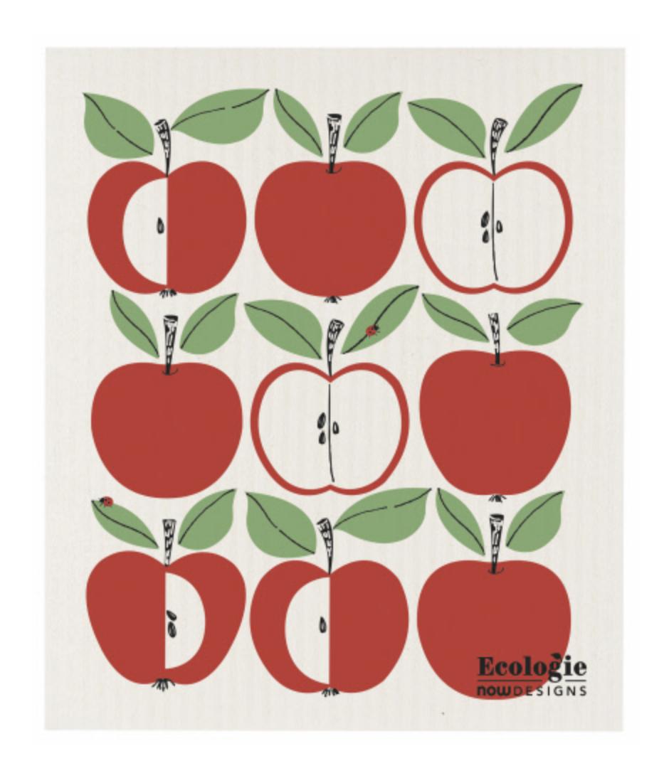 Swedish Dish Cloth: Fruit + Flowers + Bees --CHOOSE DESIGN