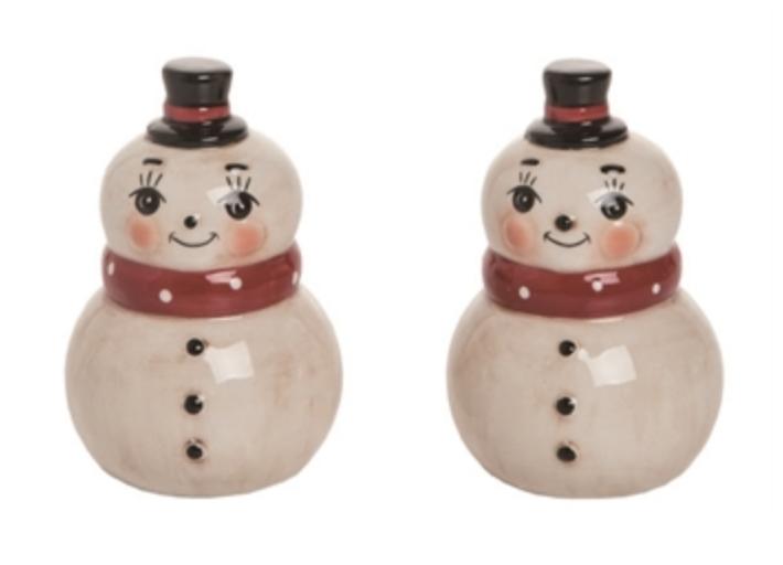 Snowman Pair Salt & Pepper Shakers, set/2