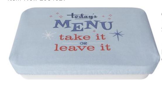 "Cheeky ""Today's Menu"", Baking Dish Cover, 13""x9"""