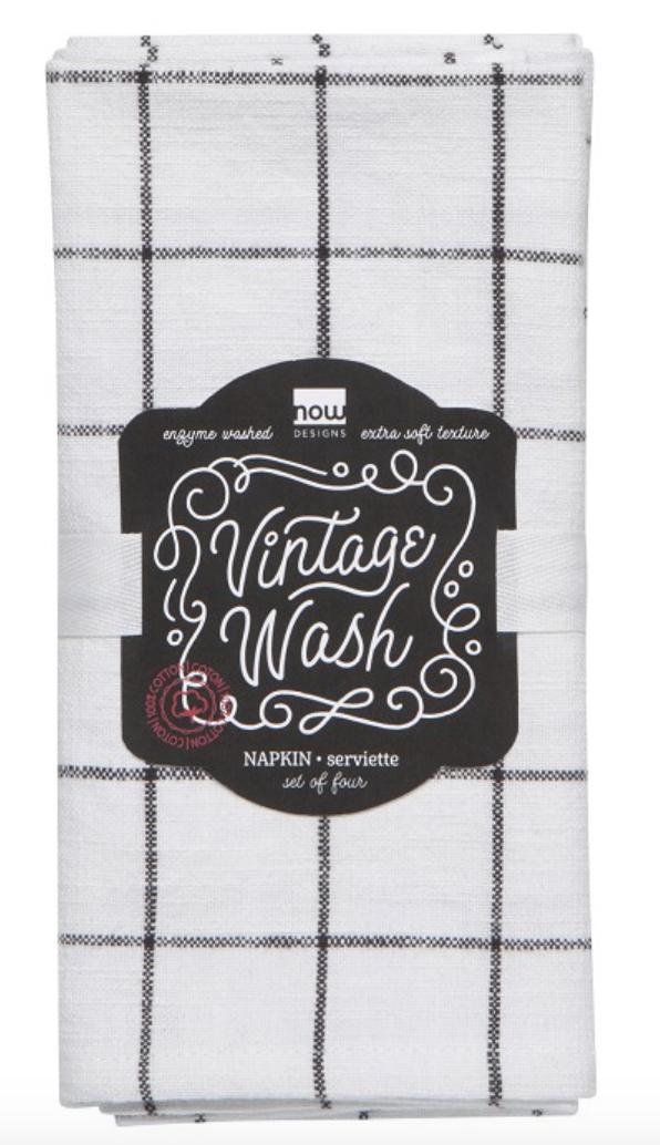 Vintage Wash Napkin/set 4