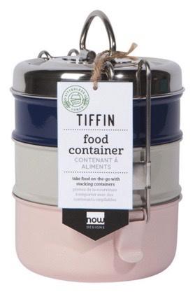 Tiffin Food Container, 3-Tier--CHOOSE COLOR