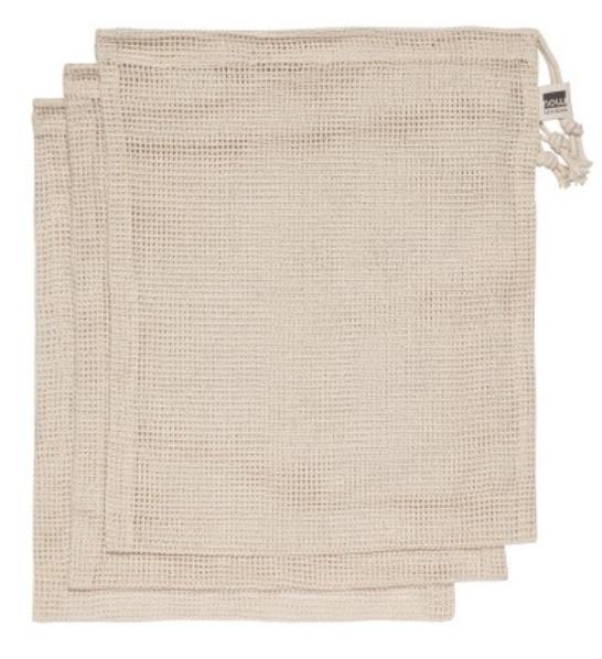 Produce Bags, Cotton Mesh, Set/ 3