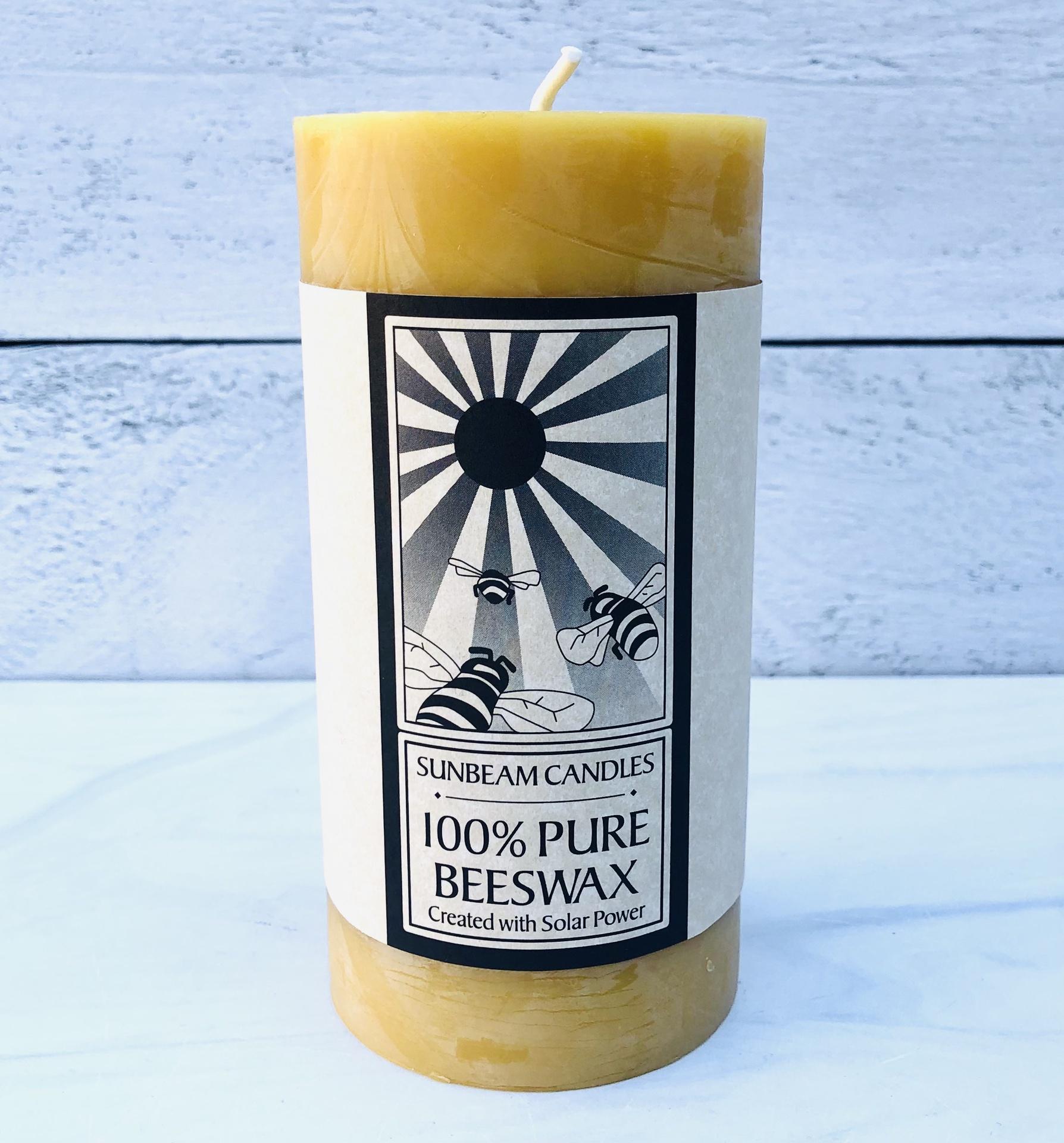 Beeswax Natural Pillar Candle--CHOOSE SIZE