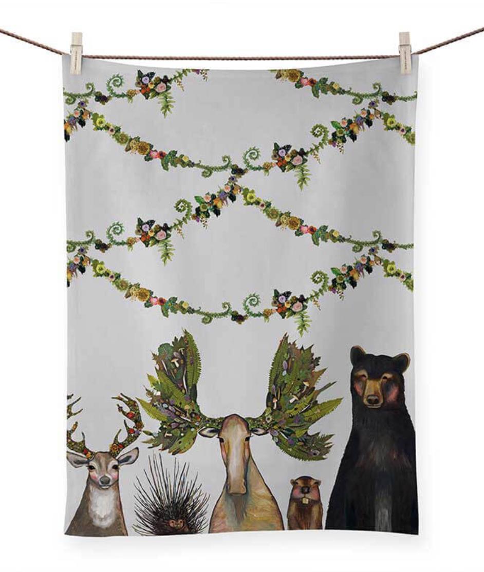 Forest Five Tea Towel