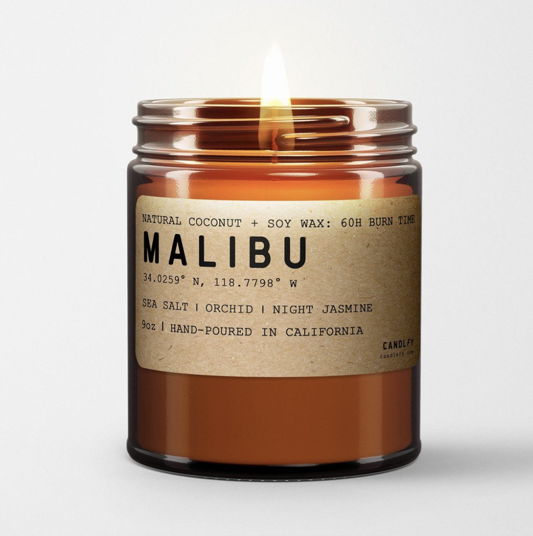 Malibu: All Natural Coconut Soy Wax Candle