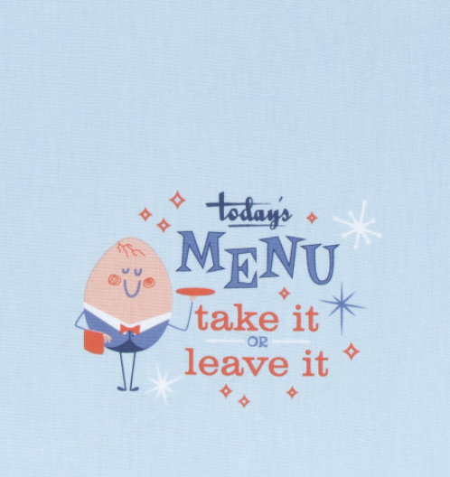 "Cheeky Tea Towel: ""Today's Menu"""