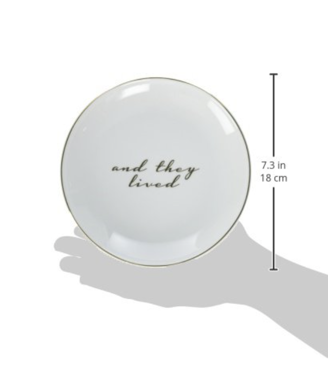"""""""Happily Ever After"""" Cake Plates, set/2"""