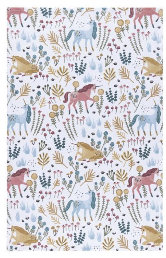 Unicorns Tea Towel