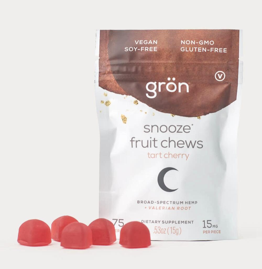 Snooze Fruit Chews: Tart Cherry, 75mg/15mg per chew