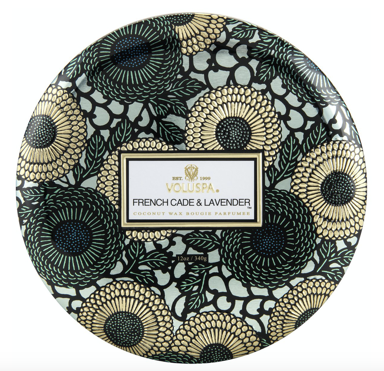 Voluspa French Cade Lavender, 3-Wick Candle in Tin