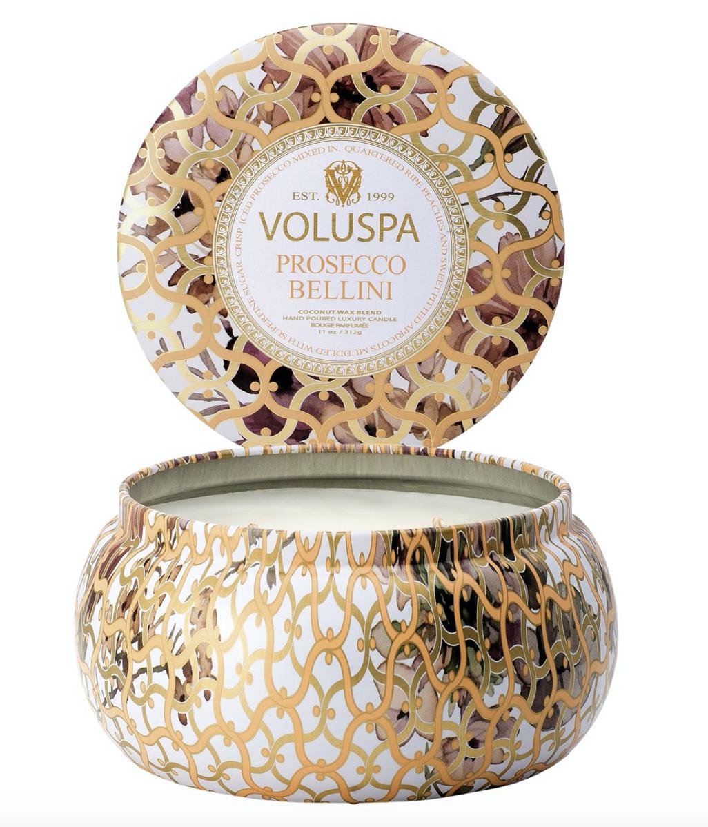 Voluspa Prosecco Bellini, 2-Wick Maison Metallo Candle