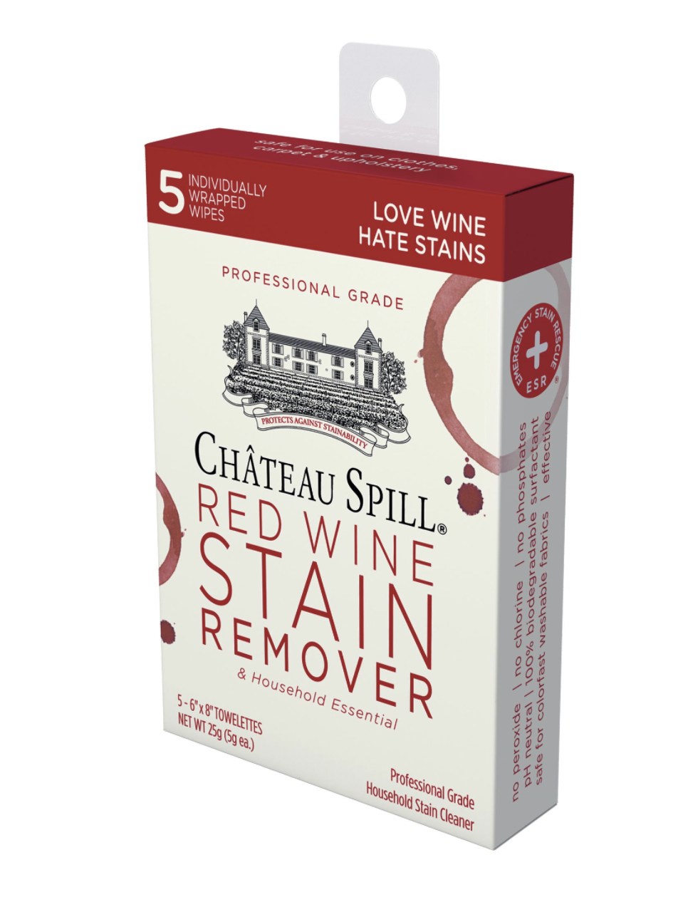 Chateau Wine Stain Remover Wipes, set/5