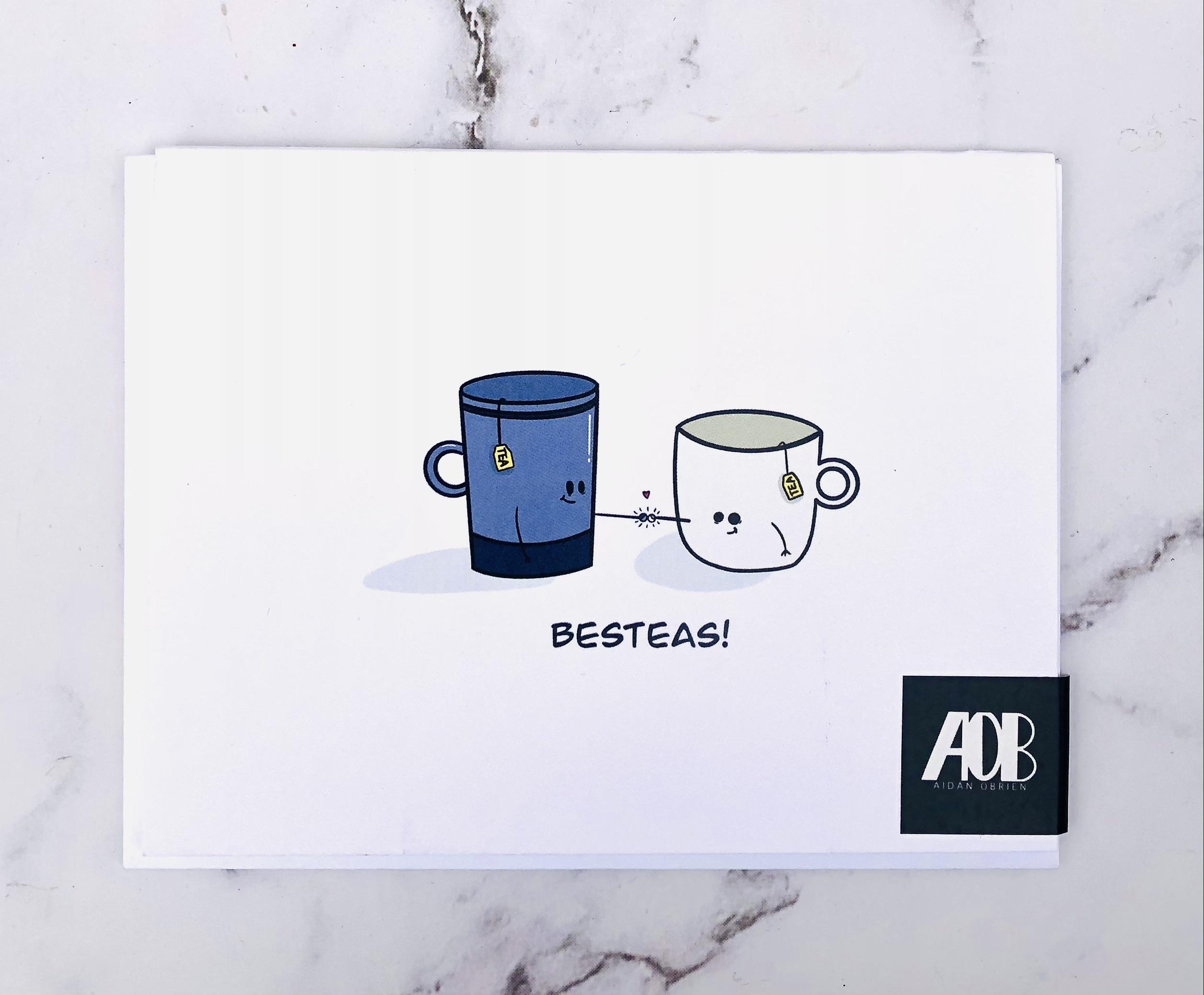 """Besteas,"" Blank Greeting Card"