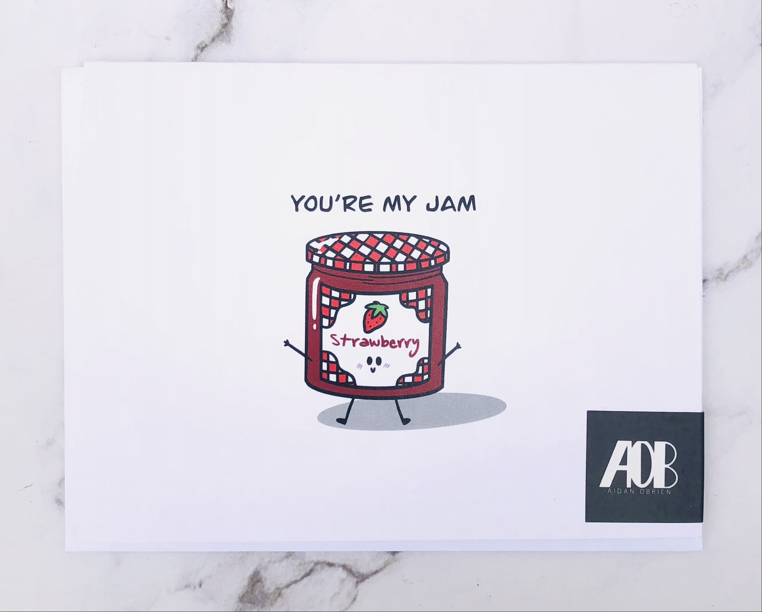 """""""You're My Jam"""" Blank Greeting Card"""