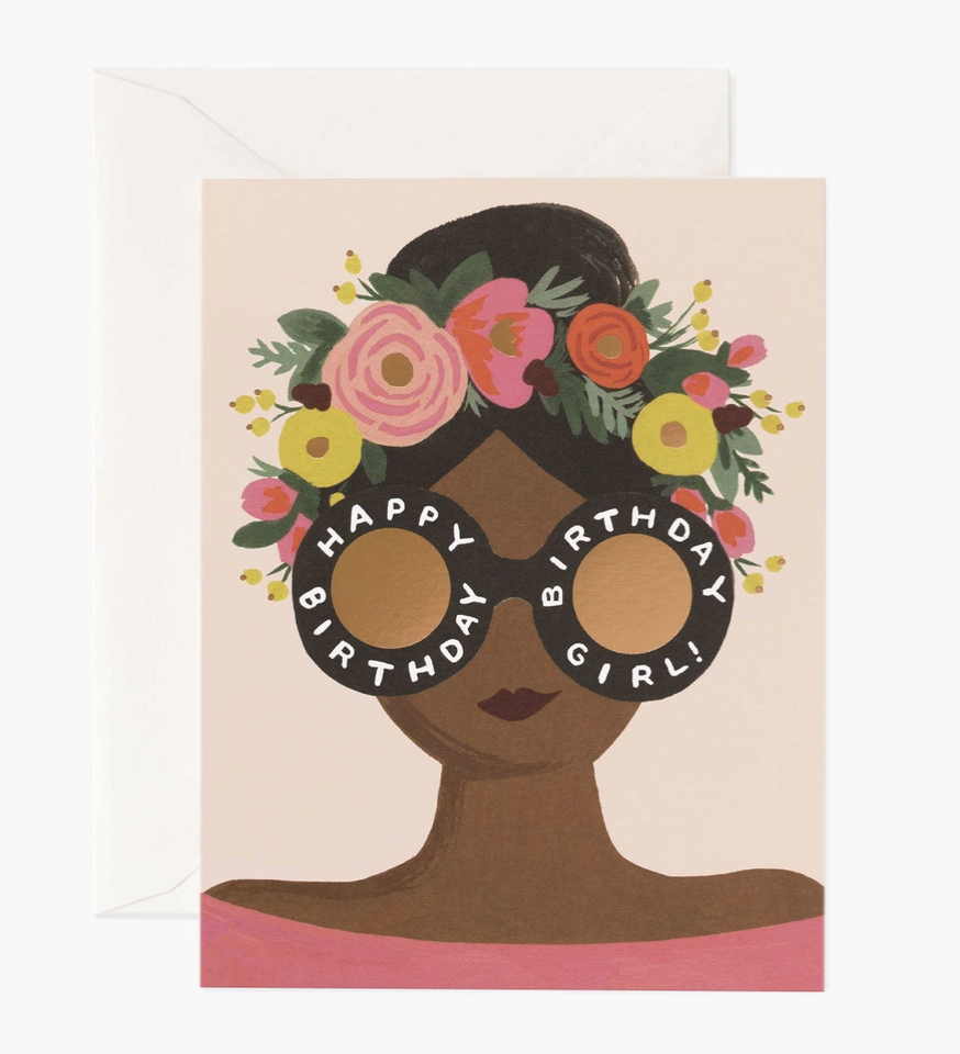 Flower Crown Birthday Girl, Rifle Paper Co. Blank Greeting Card