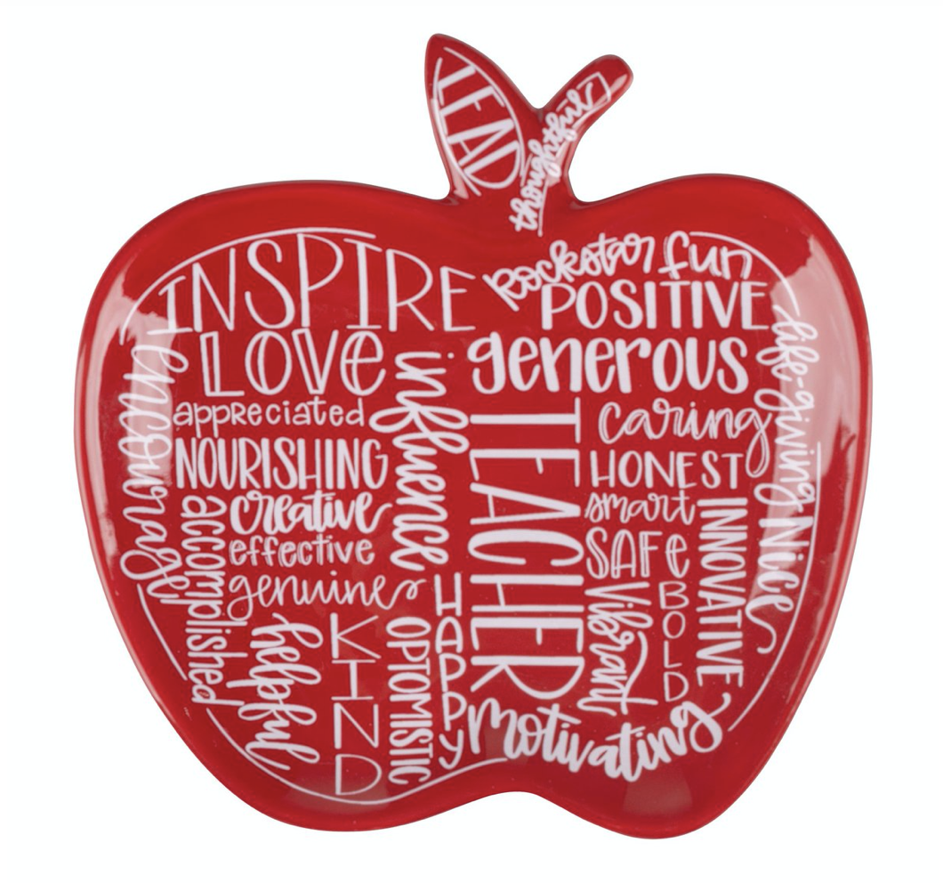 Teacher Apple Trinket Dish