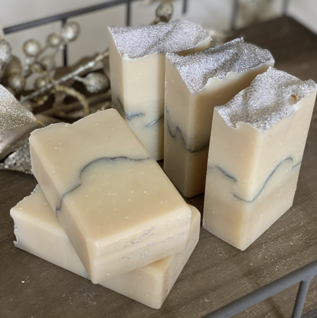 Salt&Shea Artisan Soap, 5oz: Winter Collection--CHOOSE SCENT