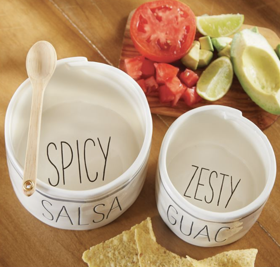 Bistro Nested Salsa & Guac Dip Set with Spoon