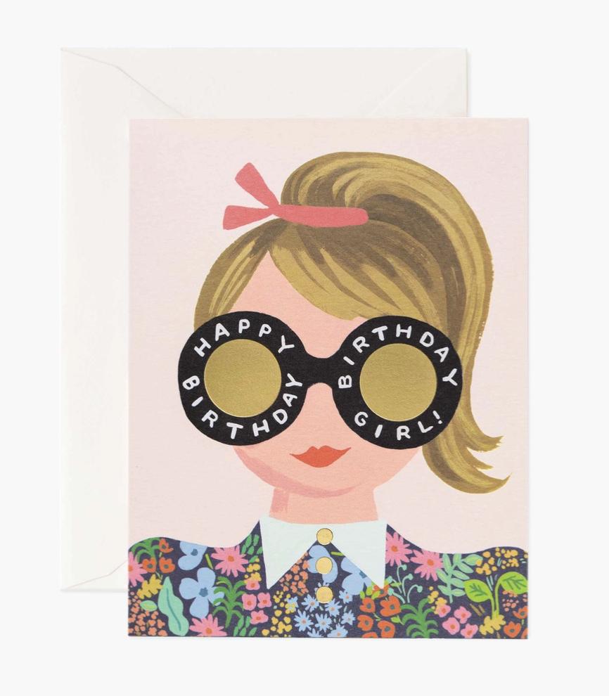 Meadow Birthday Girl, Rifle Paper Co. Blank Greeting Card