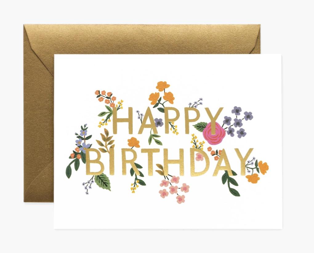Wildwood Birthday, Rifle Paper Co. Blank Greeting Card