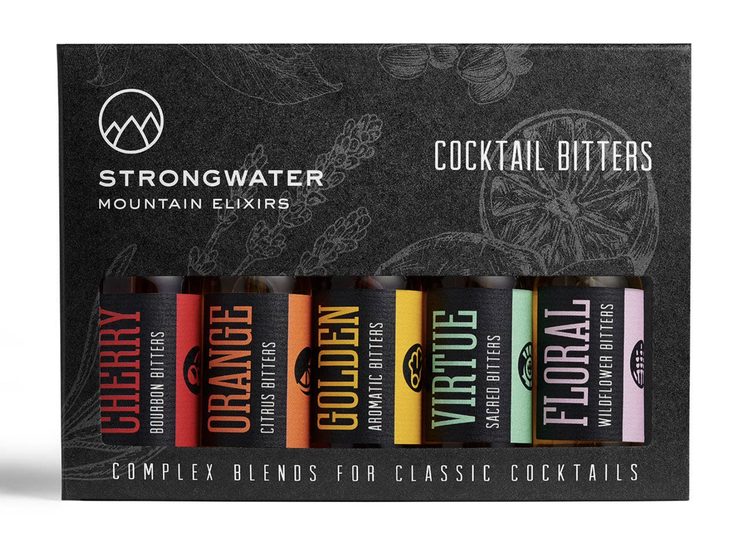 Strongwater Mountain Elixirs Cocktail Bitters Gift Set, 1